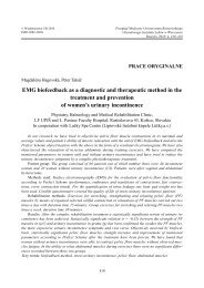 EMG biofeedback as a diagnostic and therapeutic method in the ...