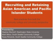 Recruiting and Retaining Asian American and Pacific ... - AACRAO