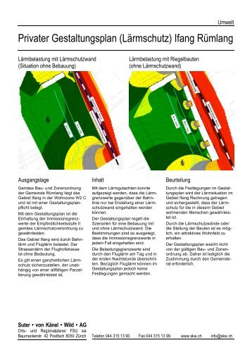 Lärmgestaltungsplan Ifang Rümlang - Suter von Känel Wild AG