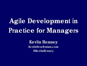Agile Development in Practice for Managers - SWEN