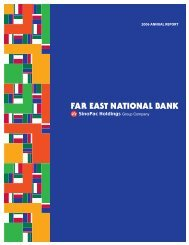 2006 ANNUAL REPORT - Far East National Bank