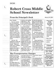 Robert Cross Middle School Newsletter - Dougherty County School ...