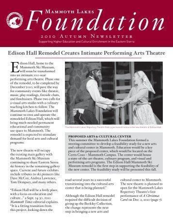 Edison Hall Remodel Creates Intimate Performing Arts Theatre ...