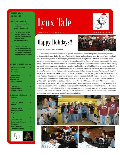 Volume 1, Issue 2 - December 2009 - Lindenwood University ...