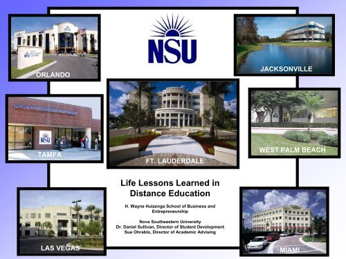 Life Lessons Learned in Distance Education - AACRAO