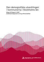 Den demografiska utvecklingen i kommunerna i Stockholms län