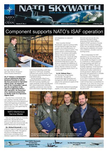 Component supports NATO's ISAF operation - nato awacs