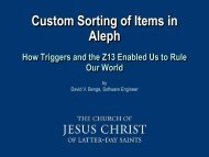 Custom Sorting of Items in Aleph - IGeLU