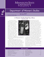 Department of Women's Studies - College of Social and Behavioral ...