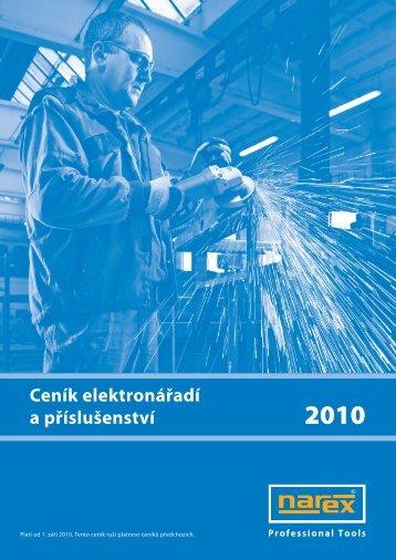 ceník narex 2010