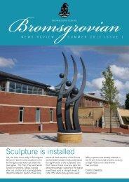 sculpture is installed - Bromsgrove School