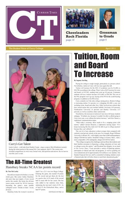 Tuition Room And Board To Increase Curry College