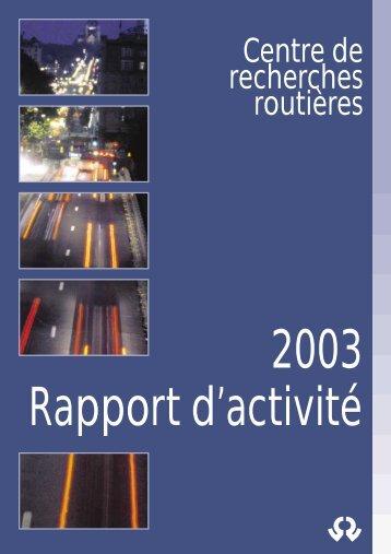 Centre de recherches routières - CRR