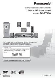 Instrucciones de funcionamiento Sistema DVD de cine ... - Panasonic