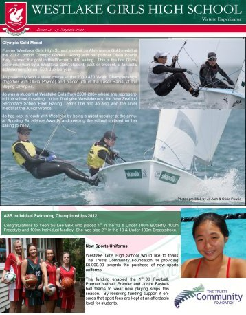 Issue 11 - 15 August 2012 Olympic Gold Medal Former Westlake ...