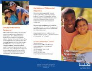 Differential Response - Center for Adoption Studies