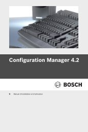 Configuration Manager 4.2 manual - Bosch Security Systems
