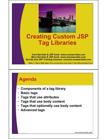 Creating Custom JSP Tag Libraries - Custom Training Courses ...