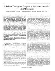 A robust timing and frequency synchronization for OFDM systems ...