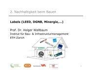 Nachhaltiges Bauen - Energie Bewegt Winterthur