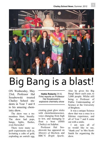 Chailey News, Summer 2012.pub - Chailey School...