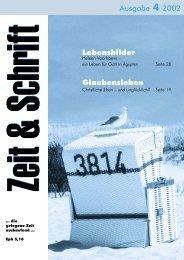 Heft 4/2002 - Zeit & Schrift