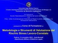 Metodologie e Strumenti di Valutazione del Rischio Stress ... - Psiop