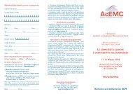 11-12 Marzo 2010 PROGRAMMA Richiesto ... - Acemc.it
