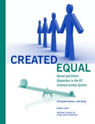 Racial and Ethnic Disparities in the US Criminal Justice System