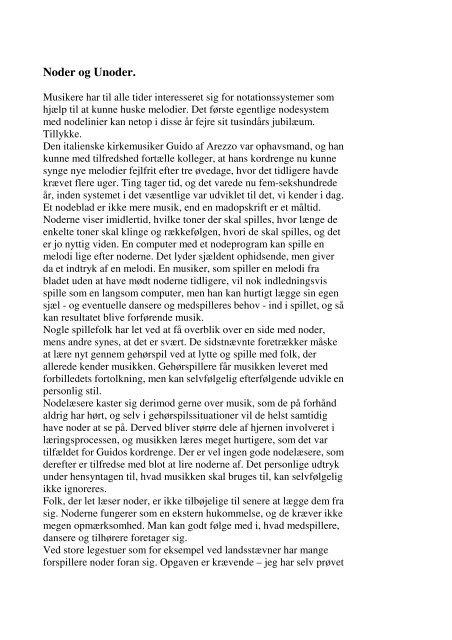 Noder og Unoder.pdf - Spillemandskredsen.dk