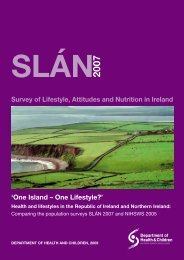 Survey of Lifestyle, Attitudes and Nutrition in Ireland 'One Island ...