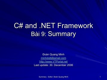 C# and .NET Framework - lib
