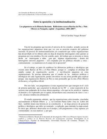 Entre la oposición y la institucionalización - Hecho Histórico
