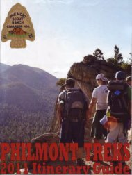 2011 Treks - Philmont Document Archives