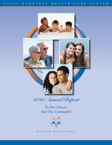Download the 2010 Annual Report - Monmouth Medical Center ...