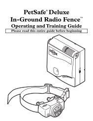 Petsafe Deluxe PRF-304W Manual - Dog Fence