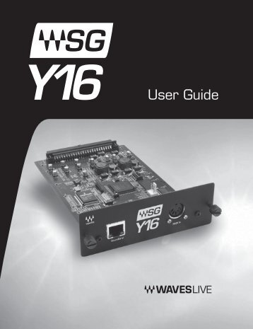 User Guide - Yamaha Commercial Audio