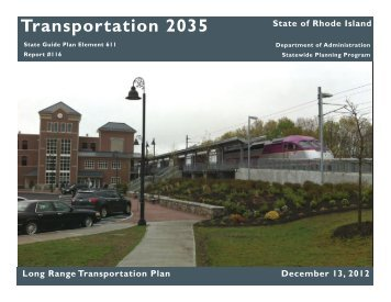 Transportation 2035 - State of Rhode Island: Division of Planning