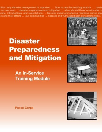 Disaster Preparedness and Mitigation - Peace Corps