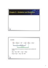 Chapter 5 – Oxidation and Reduction