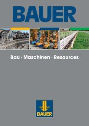 Spezialtiefbau - BAUER Gruppe