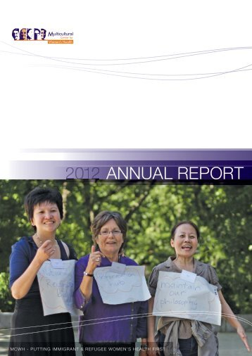 ANNUAL REPORT - Multicultural Centre for Women's Health