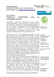 Pressemitteilung TRAVEL.13 Green Meeting