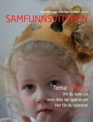 Samfunnsviteren nr. 4-2010 - Samfunnsviterne
