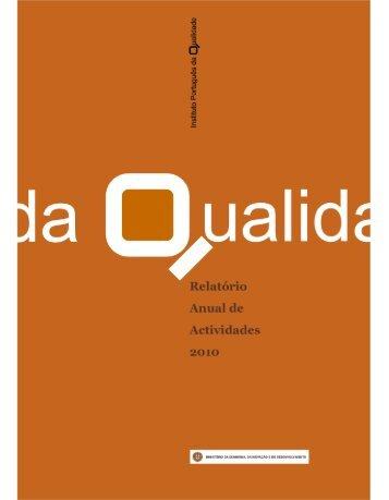 Relatório de Atividades e Auto-Avaliação 2010 (pdf) - IPQ