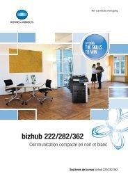 bizhub 222/282/362