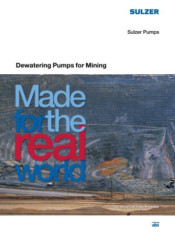 Dewatering Pumps for Mining - Imperial Units - Sulzer