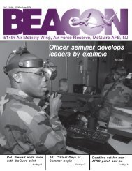 Officer seminar develops leaders by example - 514th Air Mobility Wing