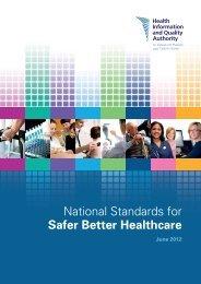 National Standards for Safer Better Healthcare - hiqa.ie