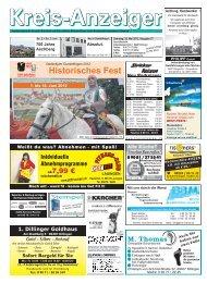 1. bis 10. Juni 2012 Historisches Fest - Kreisanzeiger